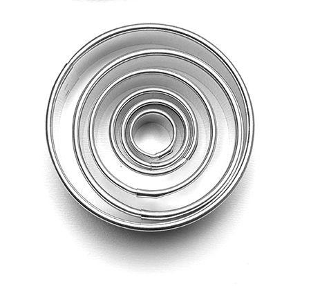 Pečení - Formičky vykrajovací sada kolečka hladká 6 ks