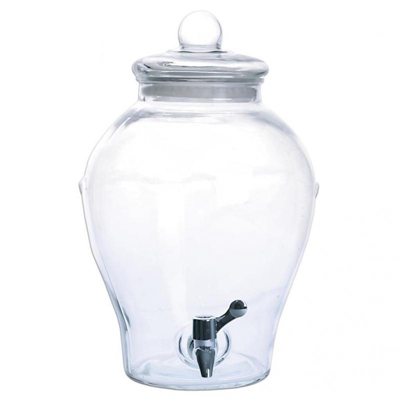 Nápoje - Skleněný zásobník na vodu s kohoutkem Apple 6,5 l