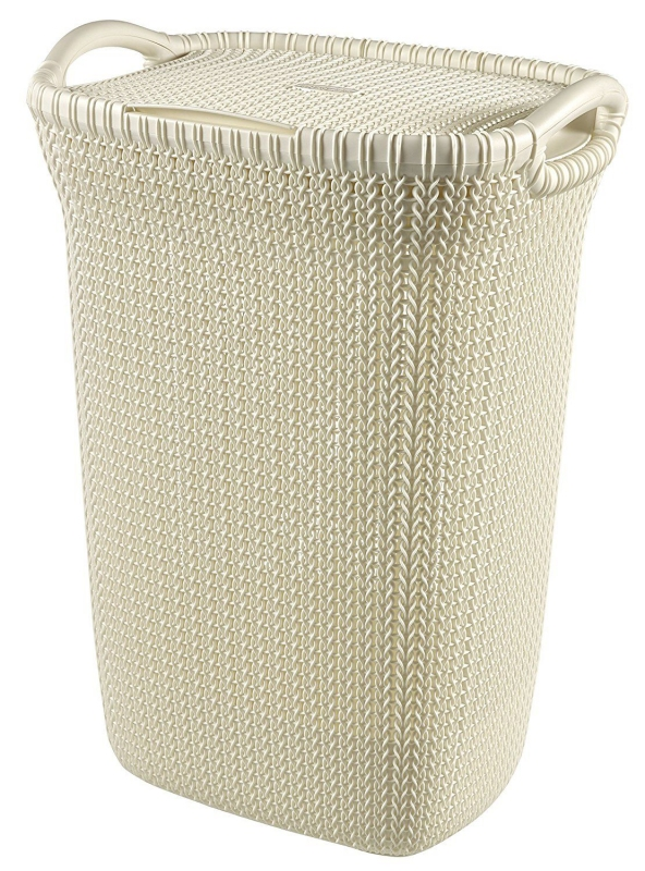 Domov a outdoor - Curver 1293676 Koš na špinavé prádlo Knit 57 l