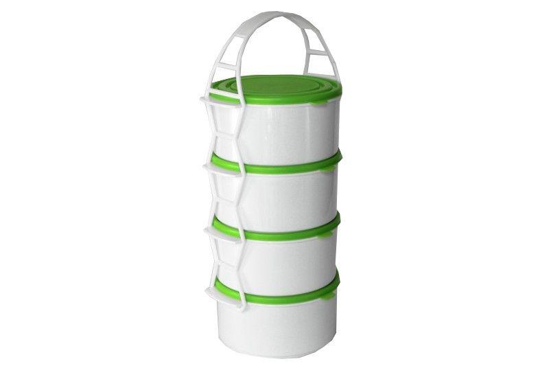 Skladování, přenášení - Petra plast 907600 Plastový jídlonosič 4x1 l