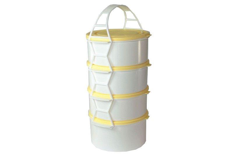 Skladování, přenášení - Petra plast 910500 Plastový jídlonosič 3x1,1 l+1x1,5 l