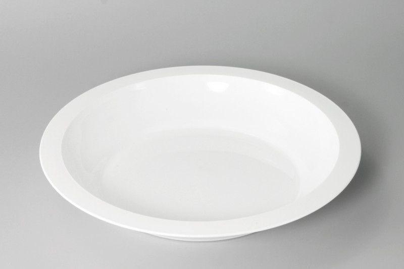 Stolování - Petra plast 902000 Plastový mělký talíř s okrajem 24 cm
