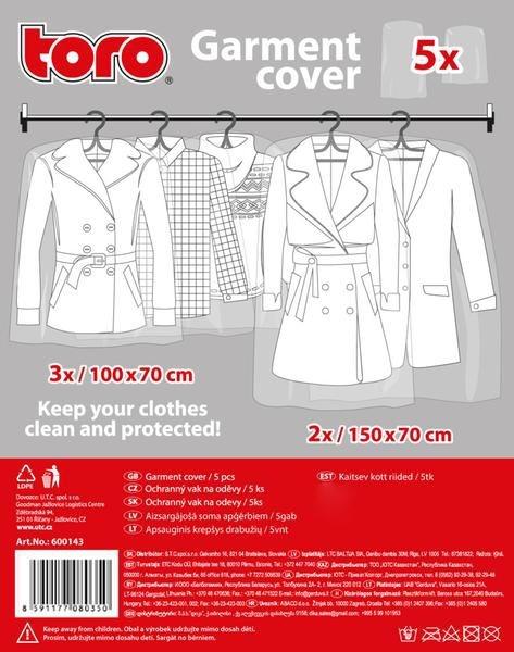 Domov a outdoor - Toro Ochranný vak na oděvy 5 ks