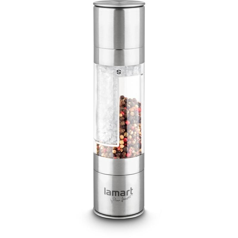 Stolování - Lamart LT7014 Mechanický oboustranný mlýnek na sůl a pepř Tube 2x100 ml