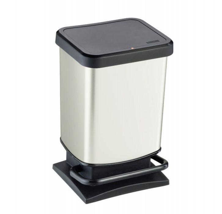 Domov a outdoor - Odpadkový koš Paso stříbrný metalický 20 l