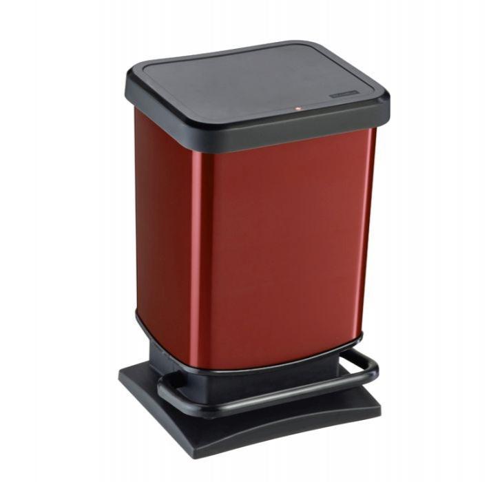 Domov a outdoor - Odpadkový koš Paso červený metalický 20 l