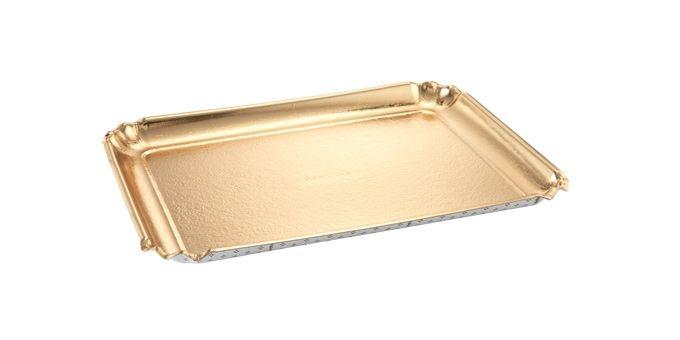 Stolování - Tescoma Delícia 630711 Papírový podnos zlatý 2 ks 42x31 cm