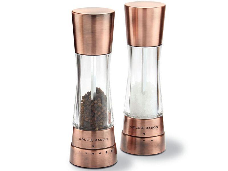 Stolování - Cole & Mason H59418G Sada mlýnků na pepř a sůl Derwent Copper 19 cm