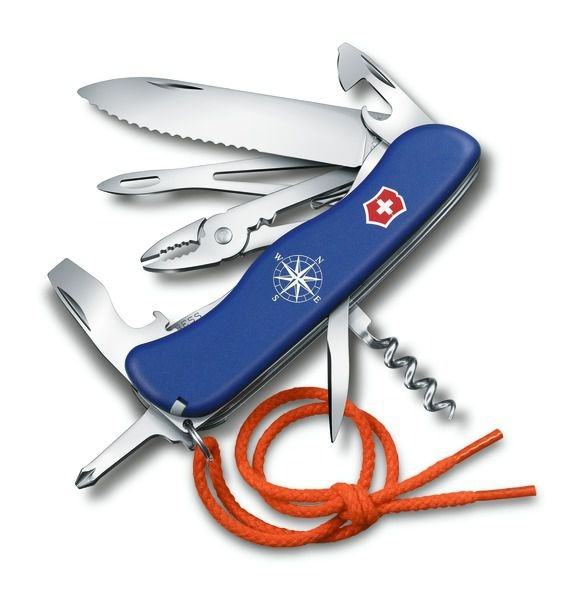Domov a outdoor - Victorinox 0.8593.2W Nůž Skipper modrý s pojistkou čepele