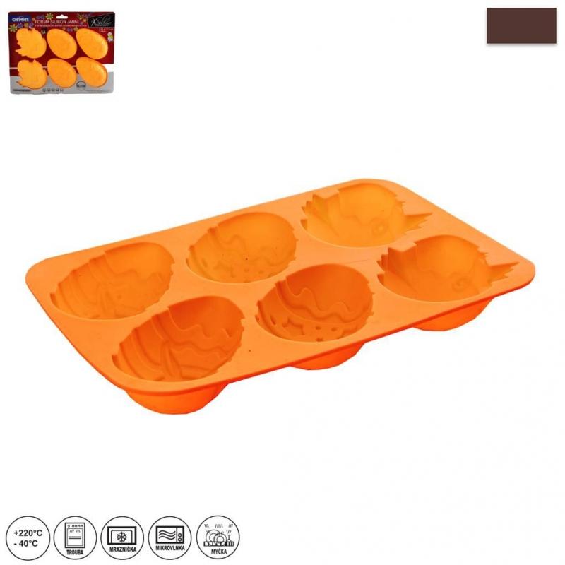 Pečení - Forma silikonová velká velikonoční vajíčka 27x17x3,5cm