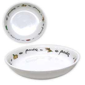 Stolování - Talíř na těstoviny, keramika