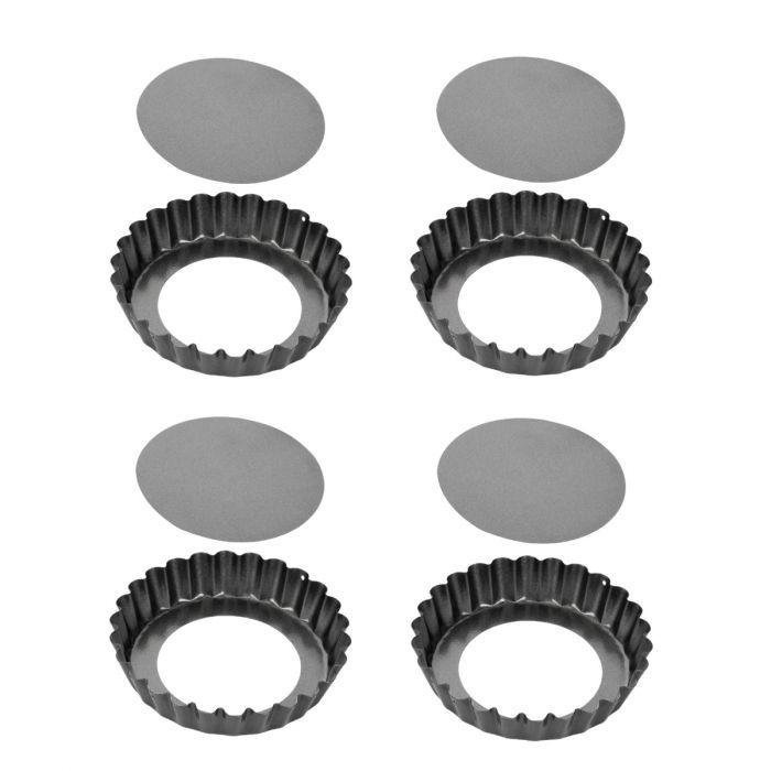 Pečení - Tescoma Delícia 623111.00 Forma s vlnitým okrajem a odnímatelným dnem 4ks