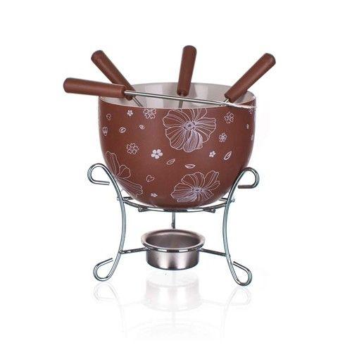 Stolování - Banquet A11614 Fondue sada na čokoládu CHOCO BLOSSOMS 6 ks