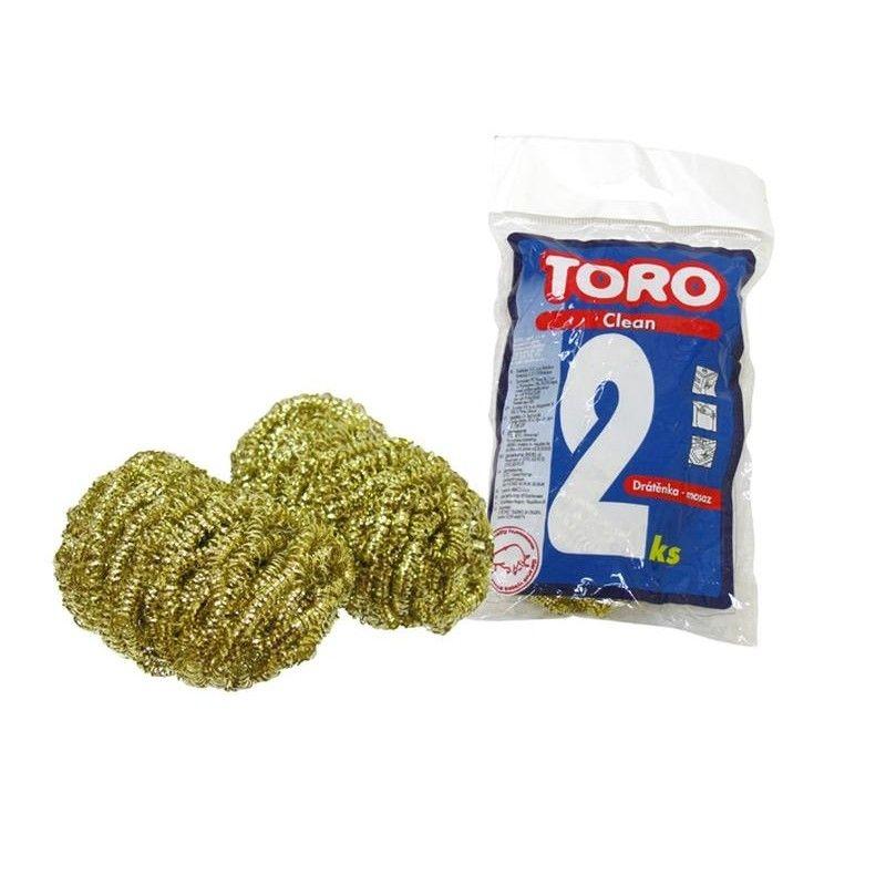 Organizace kuchyně - Toro 500005 Drátěnka mosazná 2ks
