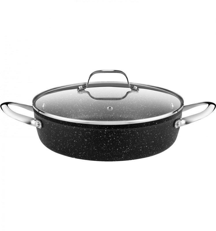 Vaření - MONIXBRA MINERAL 3580V724 Kastrol mělký s poklicí 24 cm