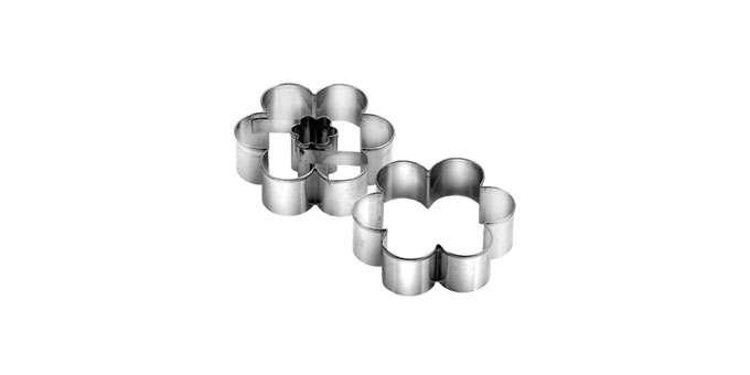 Pečení - Formička vykrajovací duo kytička o 4.0 cm Delícia Tescoma 631180