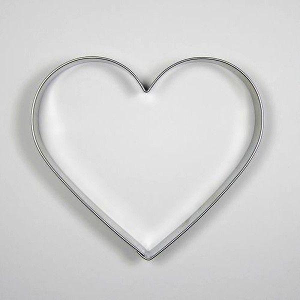 Pečení - Vykrajovátko Srdíčko nerez 8,7x9,6 cm
