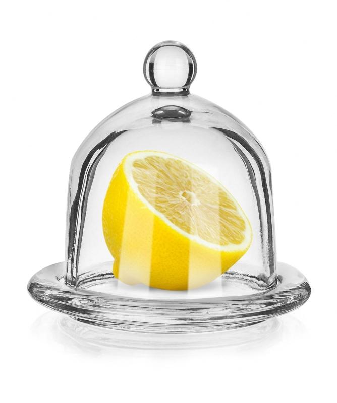 Skladování, přenášení - dóza na citron skleněná A13036 LIMON ¤12,5cm