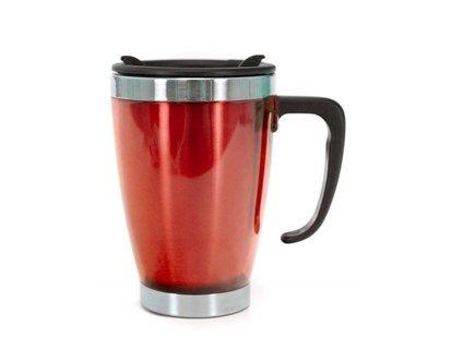 Nápoje - BANQUET Hrnek cestovní AVANZA 350 ml, červená