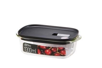Skladování, přenášení - Dóza na potraviny, 1,3 l, borosilikátové sklo