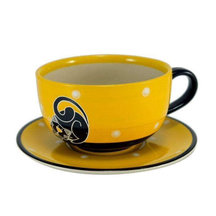 Nápoje - Šapo s motivem Kočka žlutá 330 ml