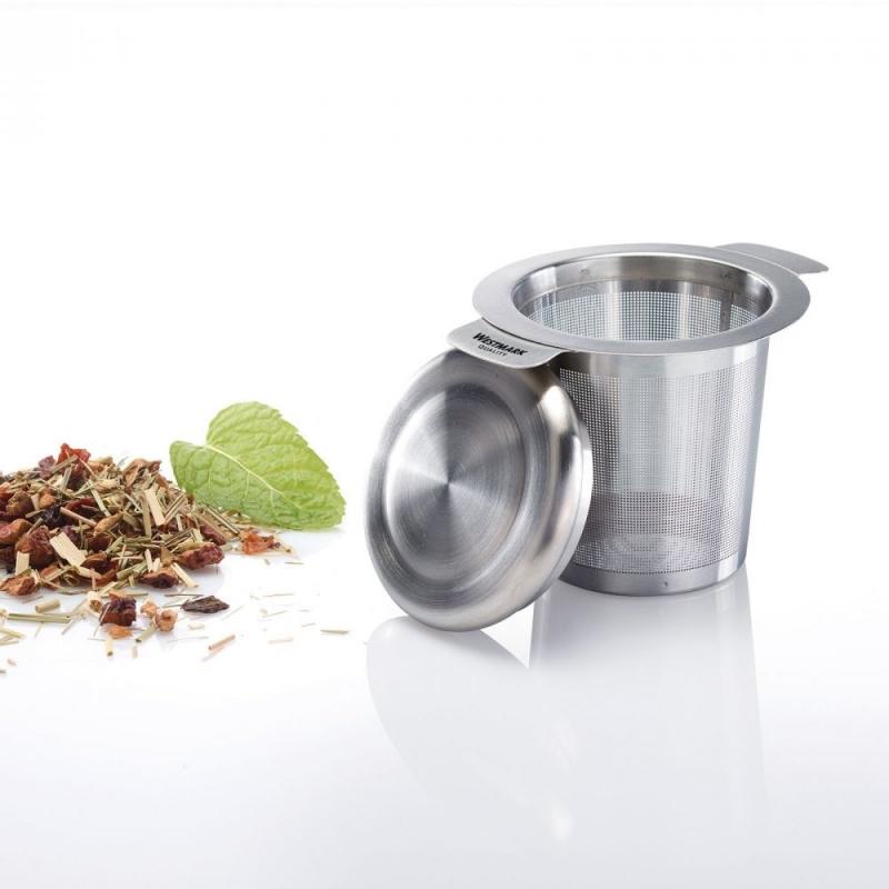 Nápoje - Nerezové sítko na čaj s pokličkou Teatime
