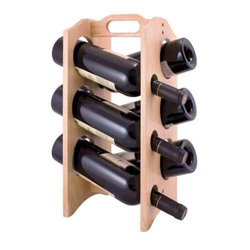 Nápoje - Banquet A14296 Dřevěný stojan na víno Brillante na 6 lahví