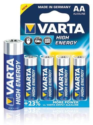 Domov a outdoor - Baterie VARTA-ALKALINE tužková AA/R6 - 4 ks