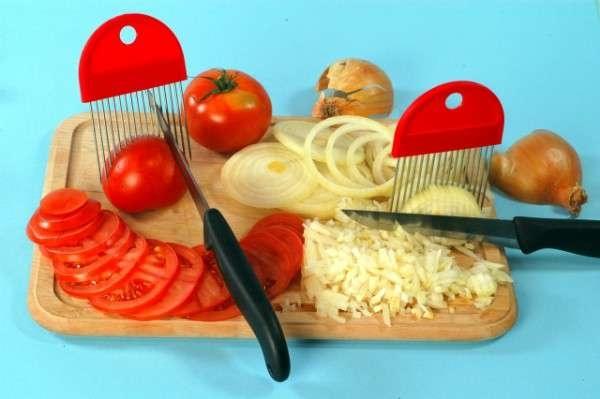 Příprava potravin - Držák na krájení cibule i rajčat