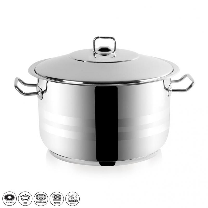 Vaření - Hrnec nerez Gastro 19,5 l poklice