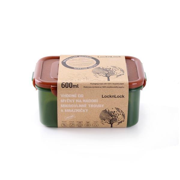 Skladování, přenášení - Dóza na potraviny LOCK 600ML (15,5x11x7cm) ECO