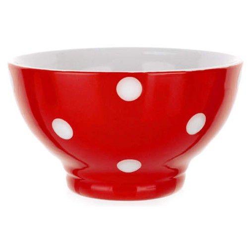 Stolování - BANQUET Miska červená s puntíky