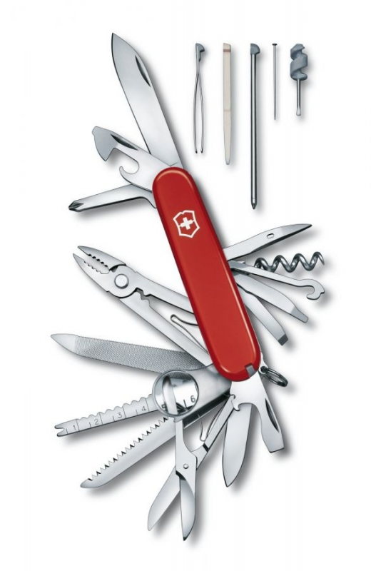 Domov a outdoor - Kapesní nůž VICTORINOX SwissChamp červený