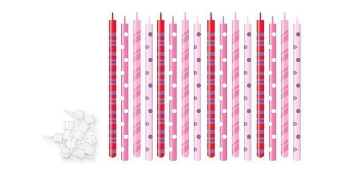 Domov a outdoor - Tescoma Dortové svíčky DELÍCIA KIDS 12 cm, 16 ks 630990