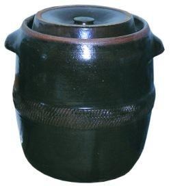 Skladování, přenášení - Sud na zelí s víkem ( zelák ) keramický 30 litrů