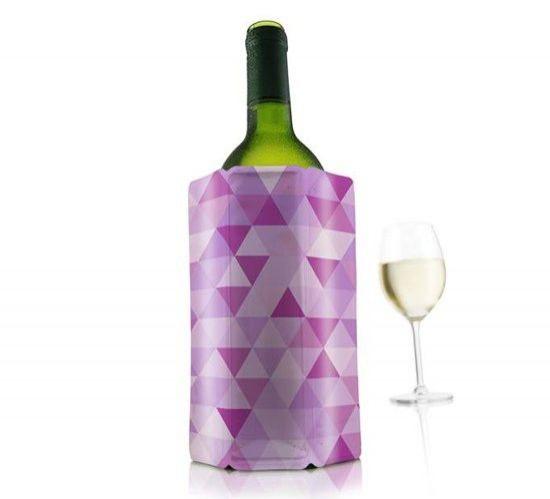 Nápoje - Chladicí návlek na víno růžový-ICC/VacuVin