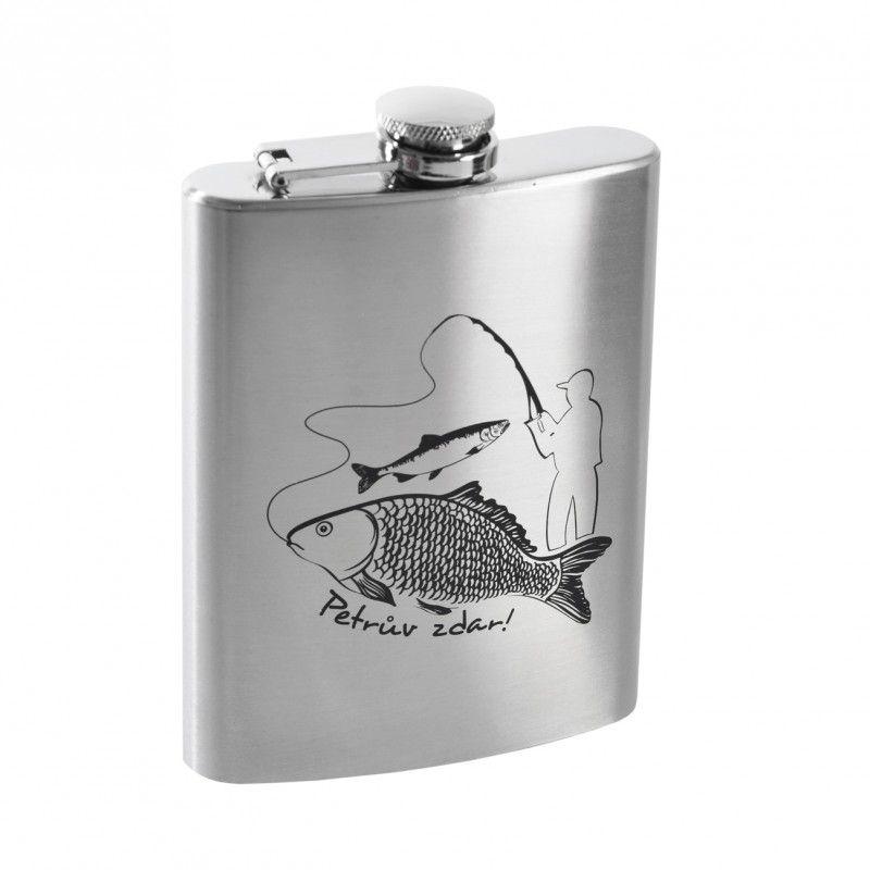 Nápoje - Nerezová kapesní láhev Rybář Orion 240 ml