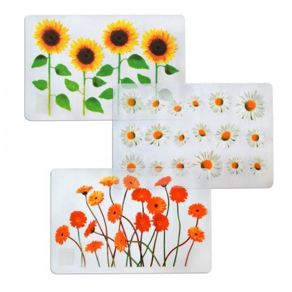 """Stolování - TORO Prostírání transparentní """"květiny"""" 28x43 cm"""