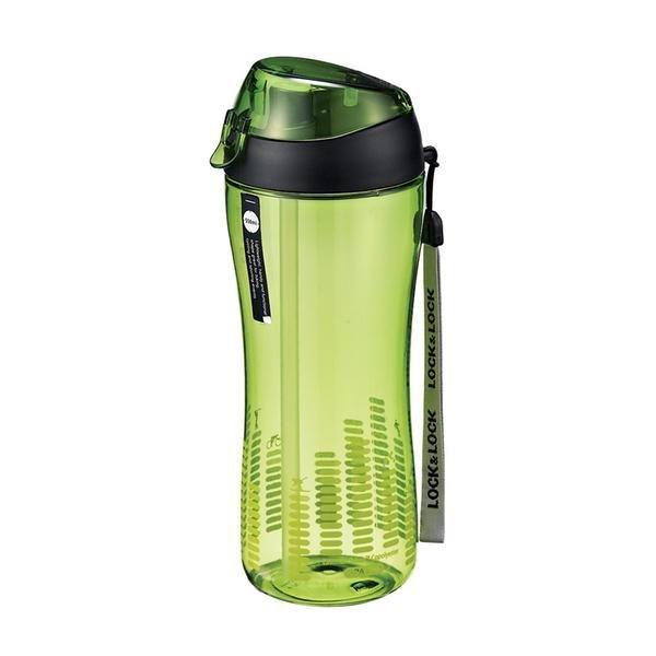 Nápoje - Lock&Lock Sportovní láhev 550 ml se silikonovým brčkem- zelená
