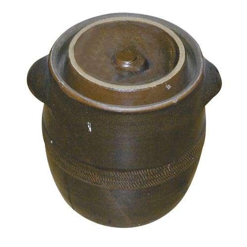 Skladování, přenášení - Sud na zelí s víkem ( zelák ) keramický 20 litrů