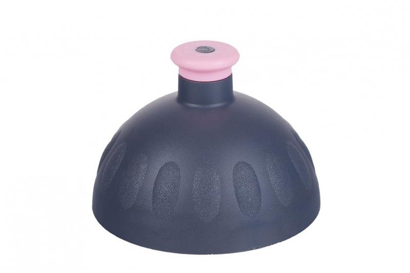Nápoje - Náhradní víčko ke Zdravé lahvi antracit/zátka růžová VPVZ0206