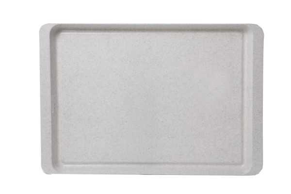 Stolování - Plastový podnos bílý granit 50x34 cm