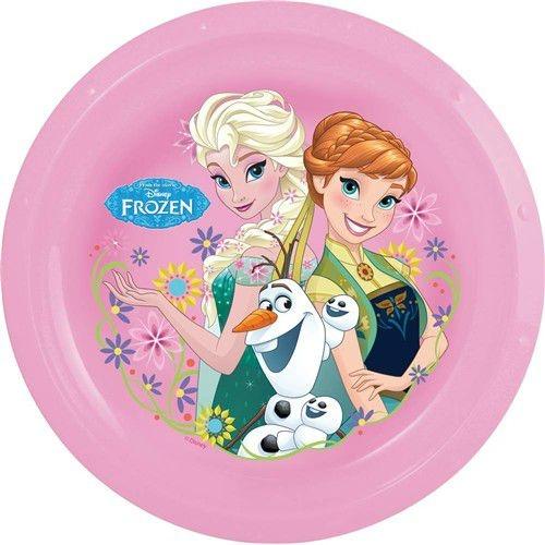 Stolování - Banquet A12732 Talířek plastový Frozen Fever růžový 22 cm