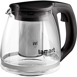 Lamart LT7025 Skleněná konvice s filtrem Verre černá 1,1 l