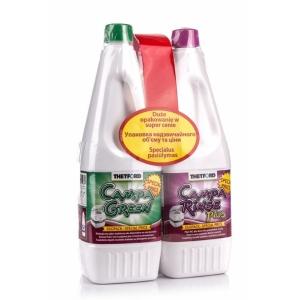 Přípravek do chemického WC Campa Green + Rinse 2 x 1,5l Duopack
