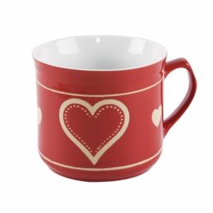 Hrnek keramický vařák srdce 500 ml