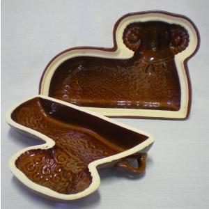 Keramická forma na beránka 2dílná 30x20 cm