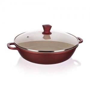 Banquet Gourmet ceramia A11382 Pánev paella s keramickým povrchem a poklicí 28 cm