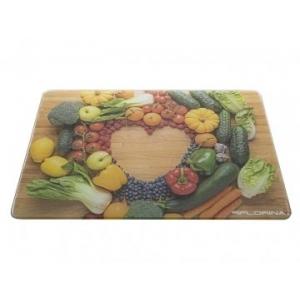 Skleněná krájecí kuchyňská deska Zelenina