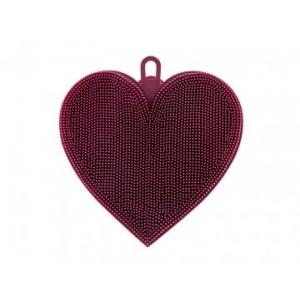 Houbička na nádobí silikon srdce